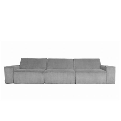 Zuiver Sofa James Cool 3-Sitzer graue Rippe Web 310x91x74cm