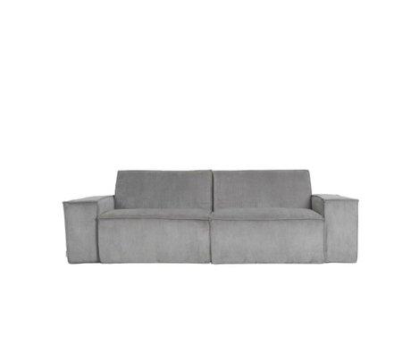 Zuiver Sofa James Cool 2-zits grijs ribstof web 224x91x74cm