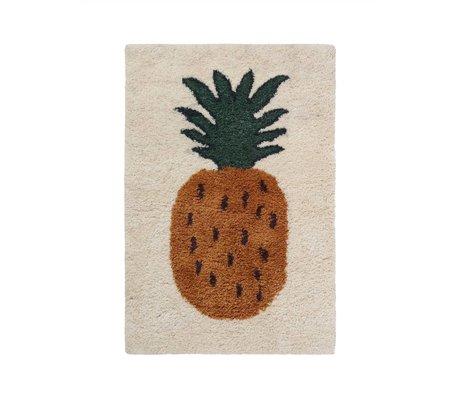Ferm Living Tapis Fruiticana Ananas multicolore textile S 120x80cm