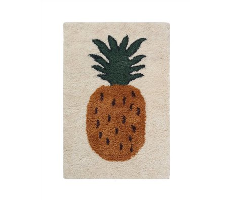 Ferm Living Vloerkleed Fruiticana Pineapple multicolor textiel S 120x80cm