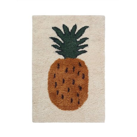 Ferm Living Rug Fruiticana Pineapple multicolor textile S 120x80cm