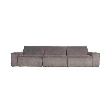 Zuiver Sofa James 3-Sitzer graue Rippe Web 310x91x74cm