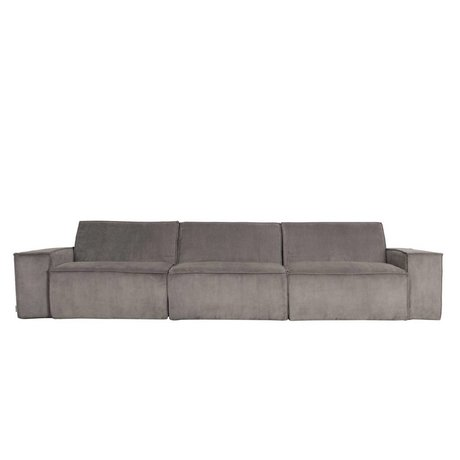 Zuiver Sofa James 3-seater gray rib web 310x91x74cm