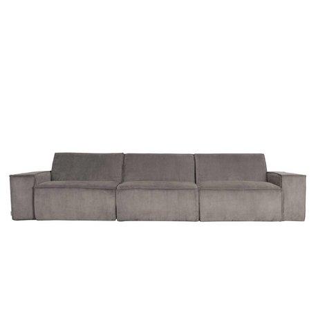 Zuiver Sofa James 3-zits grijs ribstof web 310x91x74cm