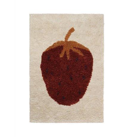 Ferm Living Teppich Fruiticana Erdbeere multicolor Textil S 120x80cm