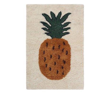 Ferm Living Tapis Fruiticana Ananas multicolore textile L 180x120cm