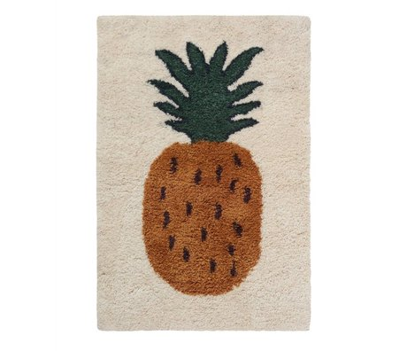 Ferm Living Vloerkleed Fruiticana Pineapple multicolor textiel L 180x120cm