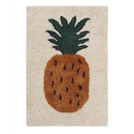 Ferm Living Rug Fruiticana Pineapple multicolor textile L 180x120cm