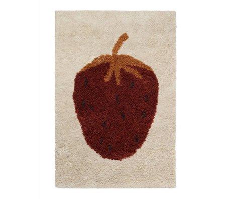 Ferm Living Tapis Fruiticana Strawberry multicolore textile L 180x120cm