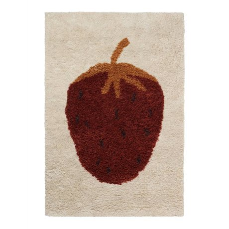 Ferm Living Rug Fruiticana Strawberry multicolor textile L 180x120cm
