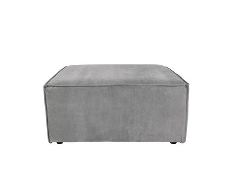 Zuiver Hocker James Cool gray rib fabric 86x86x41cm