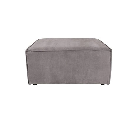 Zuiver Hocker James grauer Rippenstoff 86x86x41cm