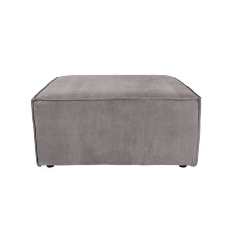 Zuiver Hocker James tissu côtelé gris 86x86x41cm