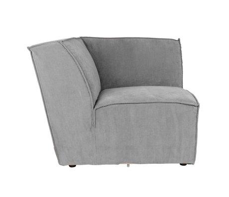 Zuiver Sofa Hoekelement James Cool grijs ribstof 91x91x74 cm