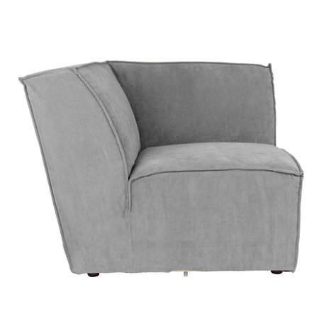 Zuiver Sofa Eckelement James Cool grauer Rippstoff 91x91x74 cm
