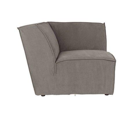 Zuiver Sofa Corner element James gray rib fabric 91x91x74cm