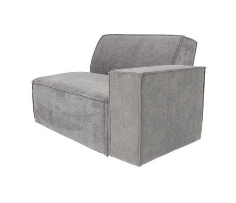 Zuiver Sofa Element James Cool arm right gray rib fabric 112x91x74cm