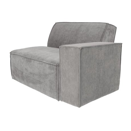 Zuiver Sofa Element James Cool arm rechts grijs ribstof 112x91x74cm