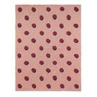 Ferm Living Deken Double Dot roze bordeaux textiel 160x120cm