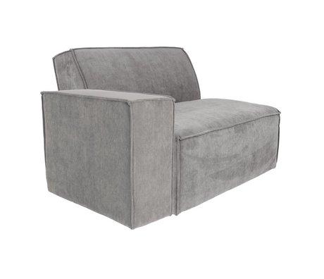 Zuiver Sofa Element James Cool arm left gray rib fabric 112x91x74cm