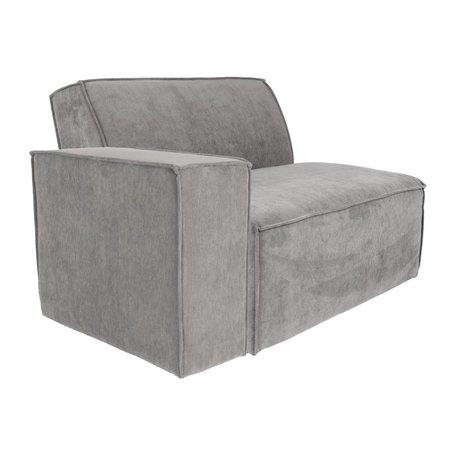 Zuiver Sofa Element James Cooler Arm links grauer Rippstoff 112x91x74cm