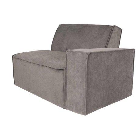Zuiver Sofa Element James arm right gray rib fabric 112x91x74cm