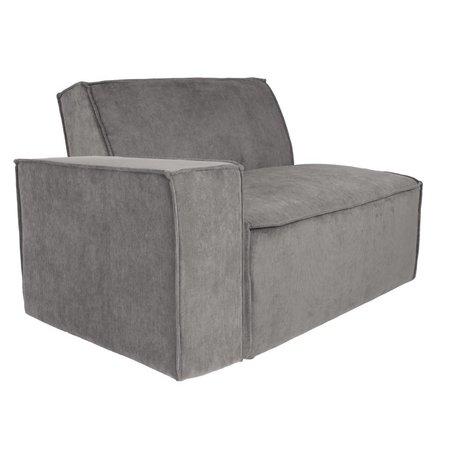 Zuiver Sofa Element James bras gauche tissu côtelé gris 112x91x74cm