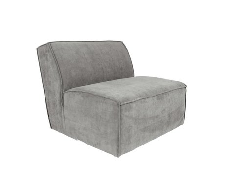 Zuiver Sofa Element James Cool grijs ribstof 86x91x74cm