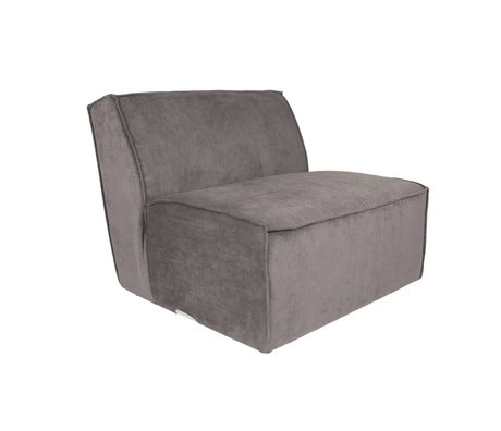 Zuiver Sofa Element James tissu côtelé gris 86x91x74cm