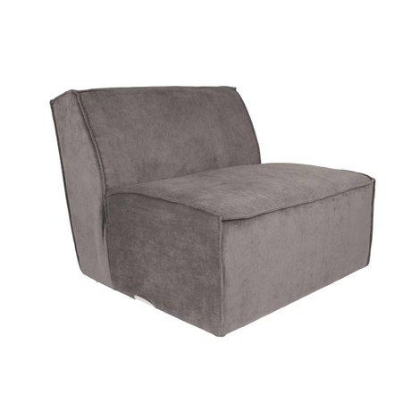 Zuiver Sofa Element James grijs ribstof 86x91x74cm