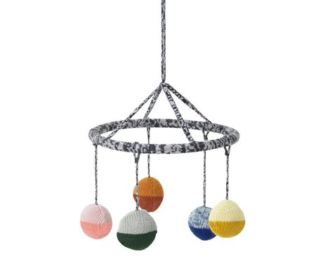 Ferm Living Mobile Ball multicolor Baumwolle Ø18cm