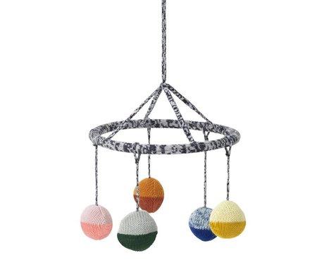 Ferm Living Mobile Ball multicolor cotton Ø18cm
