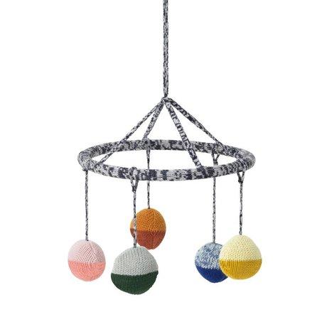 Ferm Living Mobile Ball multicolore en coton Ø18cm