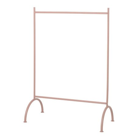 Ferm Living Porte-vêtements enfants poussiéreux rose métal 88x44x122,5cm