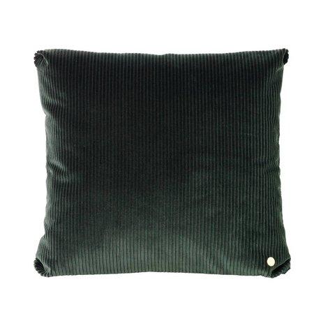 Ferm Living Coussin Corduroy 45x45cm textile noir