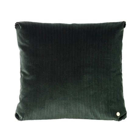 Ferm Living Throw pillow Corduroy dark green textile 45x45cm