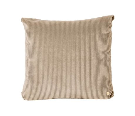Ferm Living Throw pillow Corduroy beige textile 45x45cm