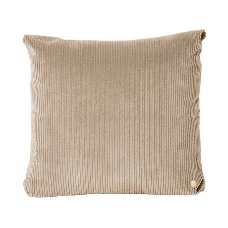 Ferm Living Sierkussen Corduroy beige textiel 45x45cm