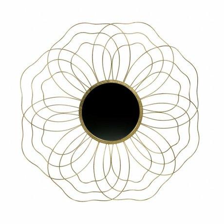 BePureHome Spiegel Handsome L antiek brass goud metaal 5,5x88,5x88,5cm