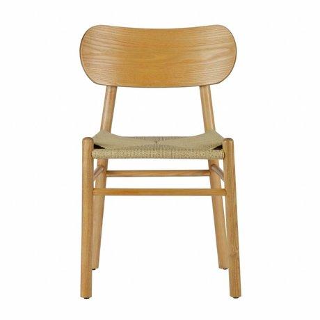 BePureHome chaise à manger conjointement bois brun naturel 79x47,5x48,5cm