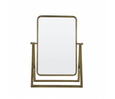 BePureHome Mirror Say cheese antique brass gold metal 46x33,5x15cm