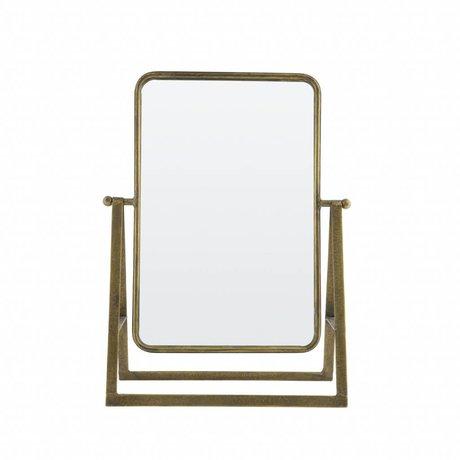 BePureHome Spiegel Say cheese antiek brass goud metaal 46x33,5x15cm