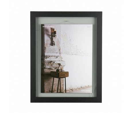 BePureHome Fotolijst Shift zwart hout L 50x40x1,8cm