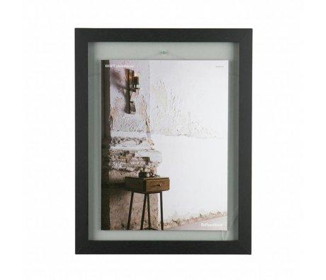BePureHome Maj bois noir cadre L 50x40x1,8cm