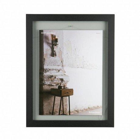 BePureHome Umschalt schwarz Holzrahmen L 50x40x1,8cm