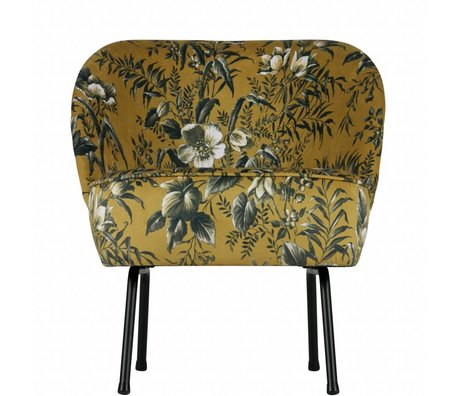 BePureHome Armchair Vogue Poppy mustard yellow velvet 69x57x70cm