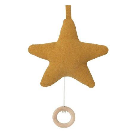 Ferm Living Mobile avec de la musique Star ocre jaune coton 14x10