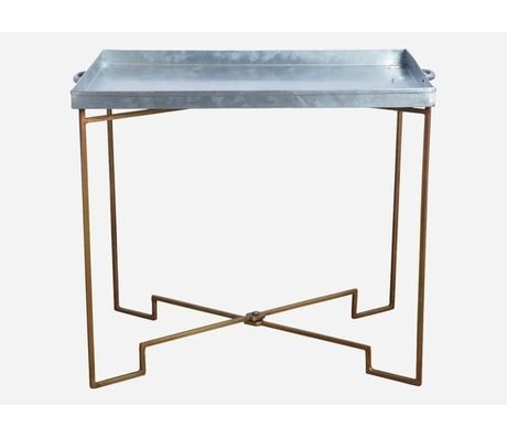 Housedoctor Housedoctor side table metal foldable copper / gray 39x50