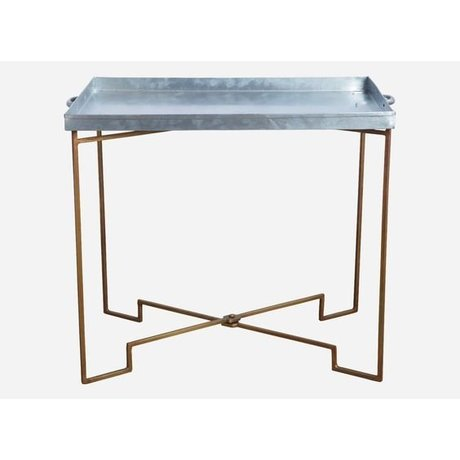 Housedoctor Housedoctor Beistelltisch Metall faltbar Kupfer / Grau 39x50