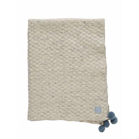 OYOY Couverture Kami gris bleu clair coton bio 80x100cm